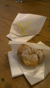 My delicious Beard Papa cream puff.