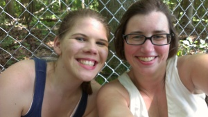 Lindsey and I hanging out in the shade.