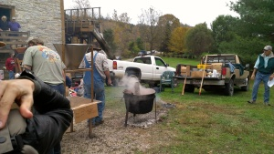 Picture of cooking apple butter