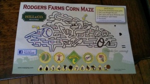 Map to corn maze