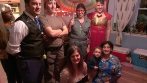 Costumed as characters from Firefly