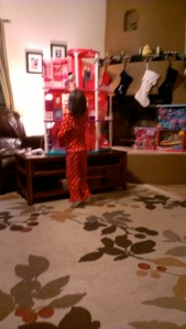 "Woah a 3 foot tall Barbie Dreamhouse. YouTube helped ""Santa"" put it together."