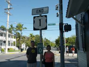 Mile 0 at the end of US Route 1