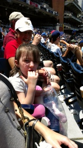 Baseball games require cotton candy. I think somebody likes it.