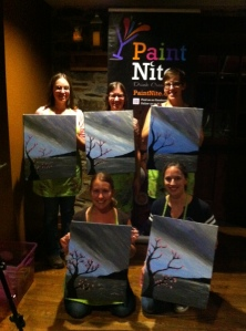 Lovely ladies with our paintings
