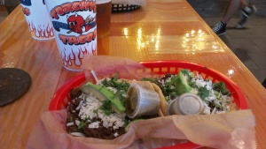 Delicious barbacoa tacos from Torchy's