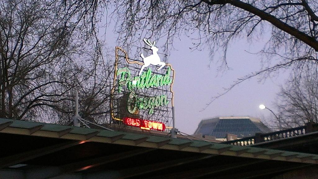 Neon Portland, Oregon sign