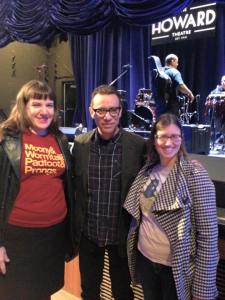 Heather and I meeting Fred Armisen